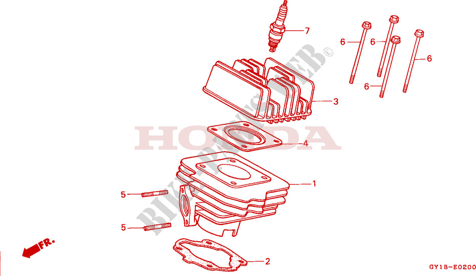 CYLINDER   HEAD для Honda VISION MET IN 50 MOPED 1991
