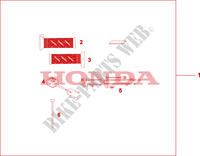 GRIP HEATER(12A) Accessories 1000 honda-motorcycle VARADERO 2009 08T5001