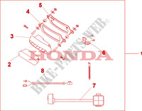 REAR FOG LIGHT KIT для Honda XL 1000 VARADERO ABS 2009