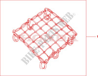 RUBBER NET A Accessories 1000 honda-motorcycle VARADERO 2009 08L6301