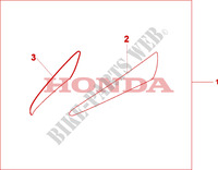 SIDE FAIRING ACCENT Accessories 1000 honda-motorcycle VARADERO 2009 08P5501