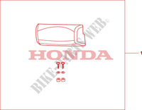 TOP BOX PILLION PAD (LOW) для Honda XL 1000 VARADERO ABS 2009