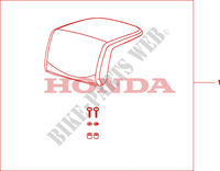 TOP BOX PILLION PAD (TOP) для Honda XL 1000 VARADERO ABS 2009