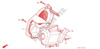 ENGINE COOLING FAN COVER для Honda CUB EZ 90 1992
