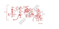 CARBURETOR O.P. KIT для Honda VISION MET IN 50 1994